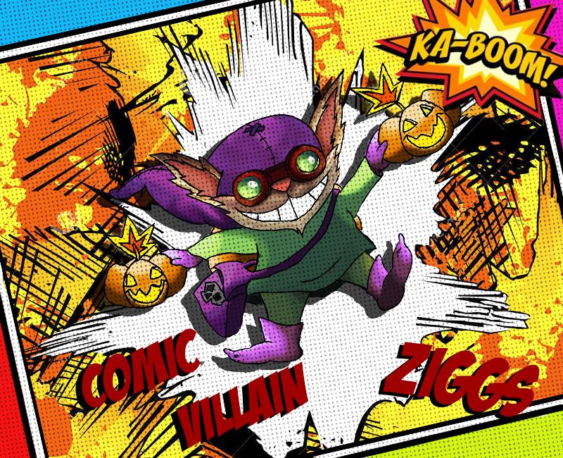 Comic Villain Ziggs by Ticoart