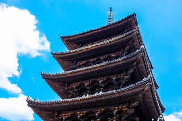 Temple in Nara, Nara-ken, Japan by kingtobbe