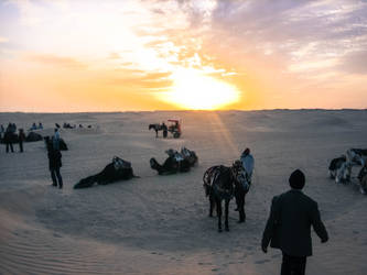 The Sahara desert southern Tunisia by kingtobbe