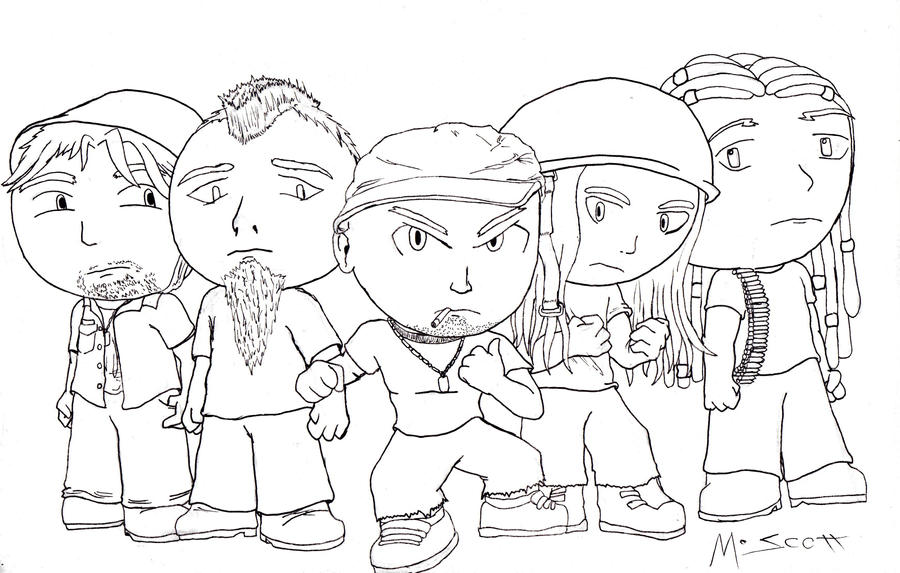 Rock And Metal Chibis: Five Finger Death Punch By