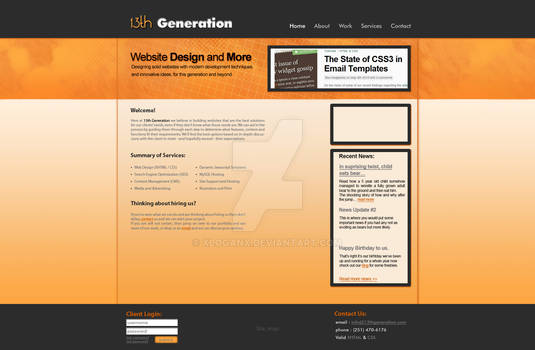 Website Layout 13thGeneration