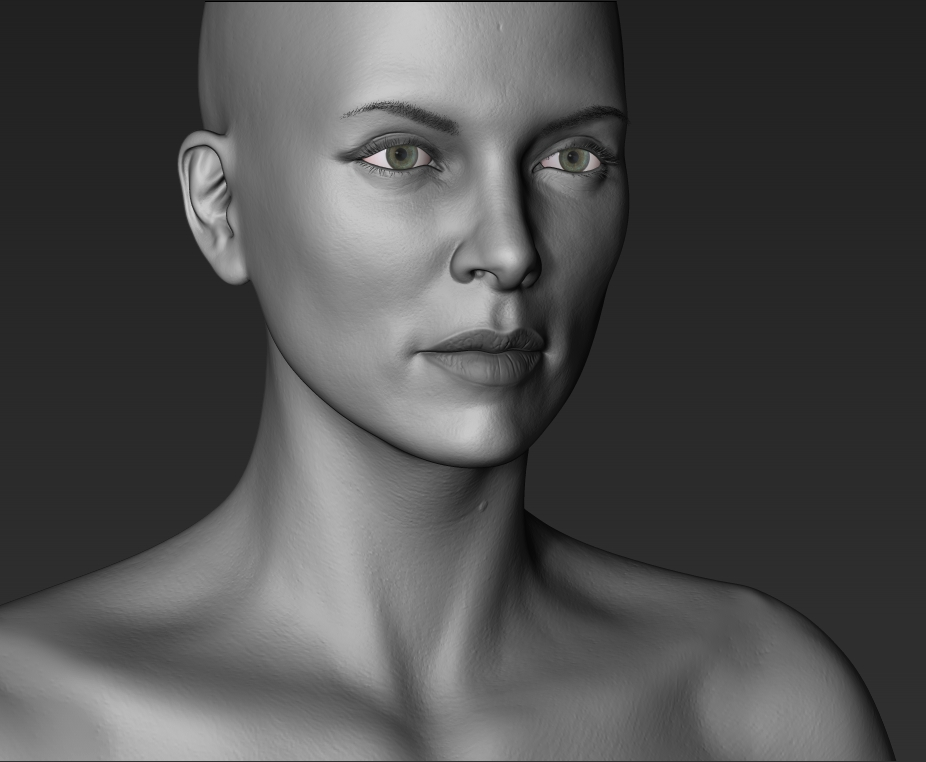 Charlize Theron - WIP by justsantiago on DeviantArt