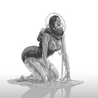 Monster Girl Challenge 16 - Slime by justsantiago