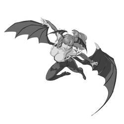 Fanart 63 Morrigan (Darkstalkers) by justsantiago