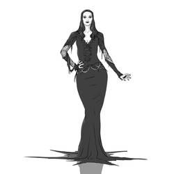 Fanart 88 Morticia Addams by justsantiago
