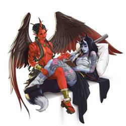 Comission: MIki and Yukina