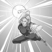 Fanart 95 Android 18 (Dragon Ball) by justsantiago