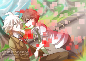Komaeda and the World Ender by shirodebby