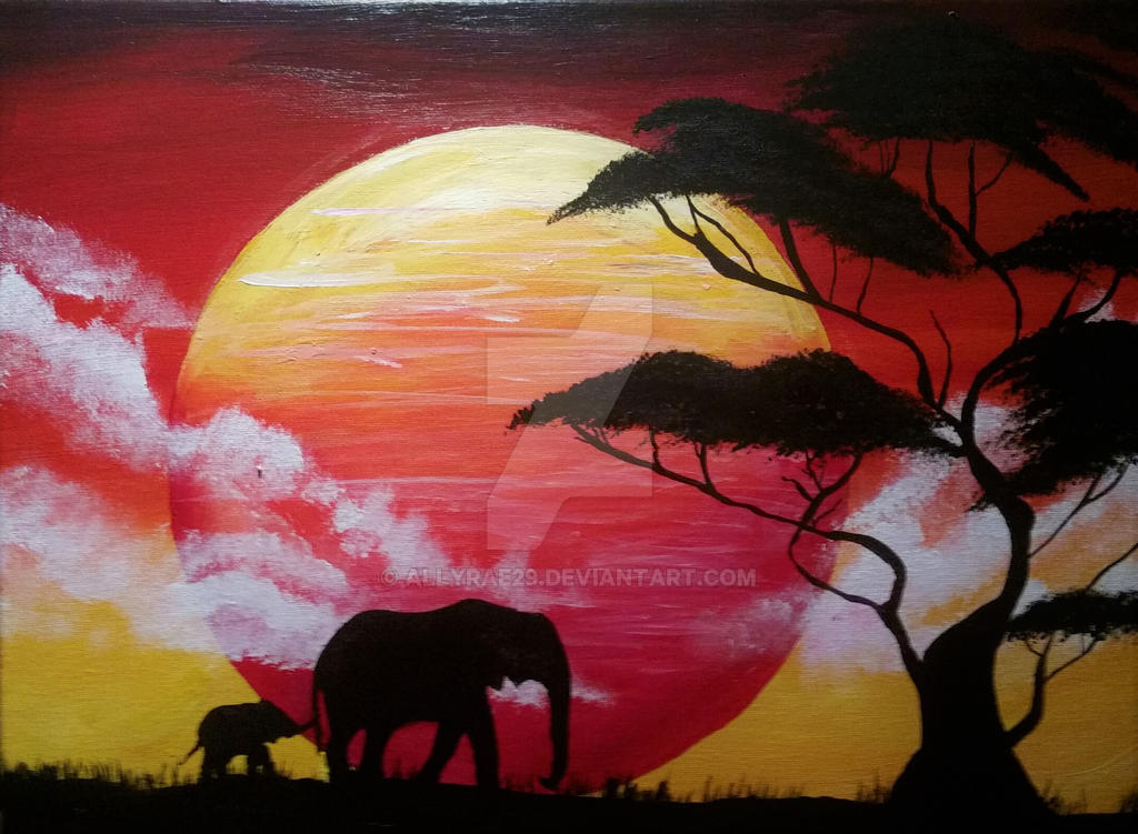 African Sunrise by AllyRae29