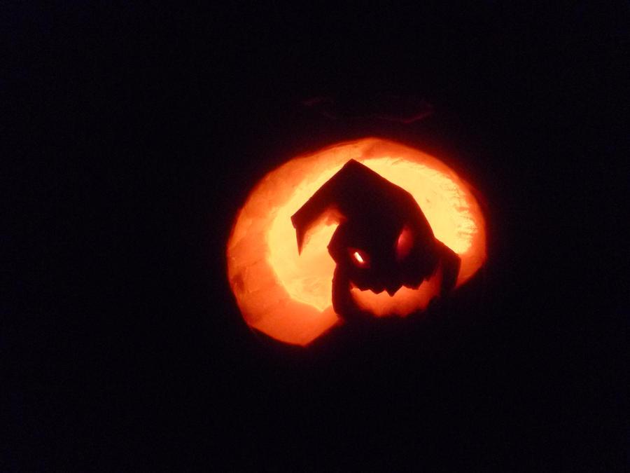 Oogie Boogie pumpkin by SkittehKitteh