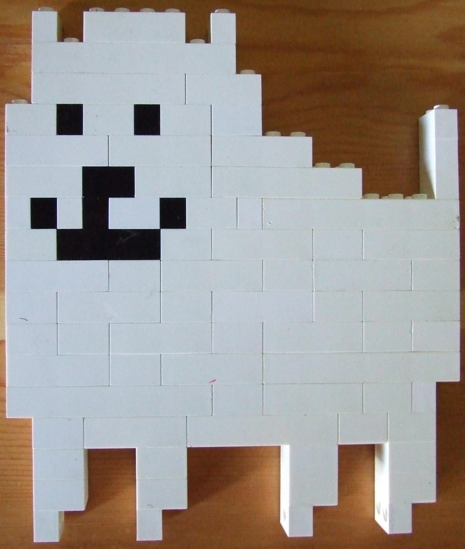 Annoying Dog Undertale Lego Pixel Art By Infinitefiregamer On Deviantart
