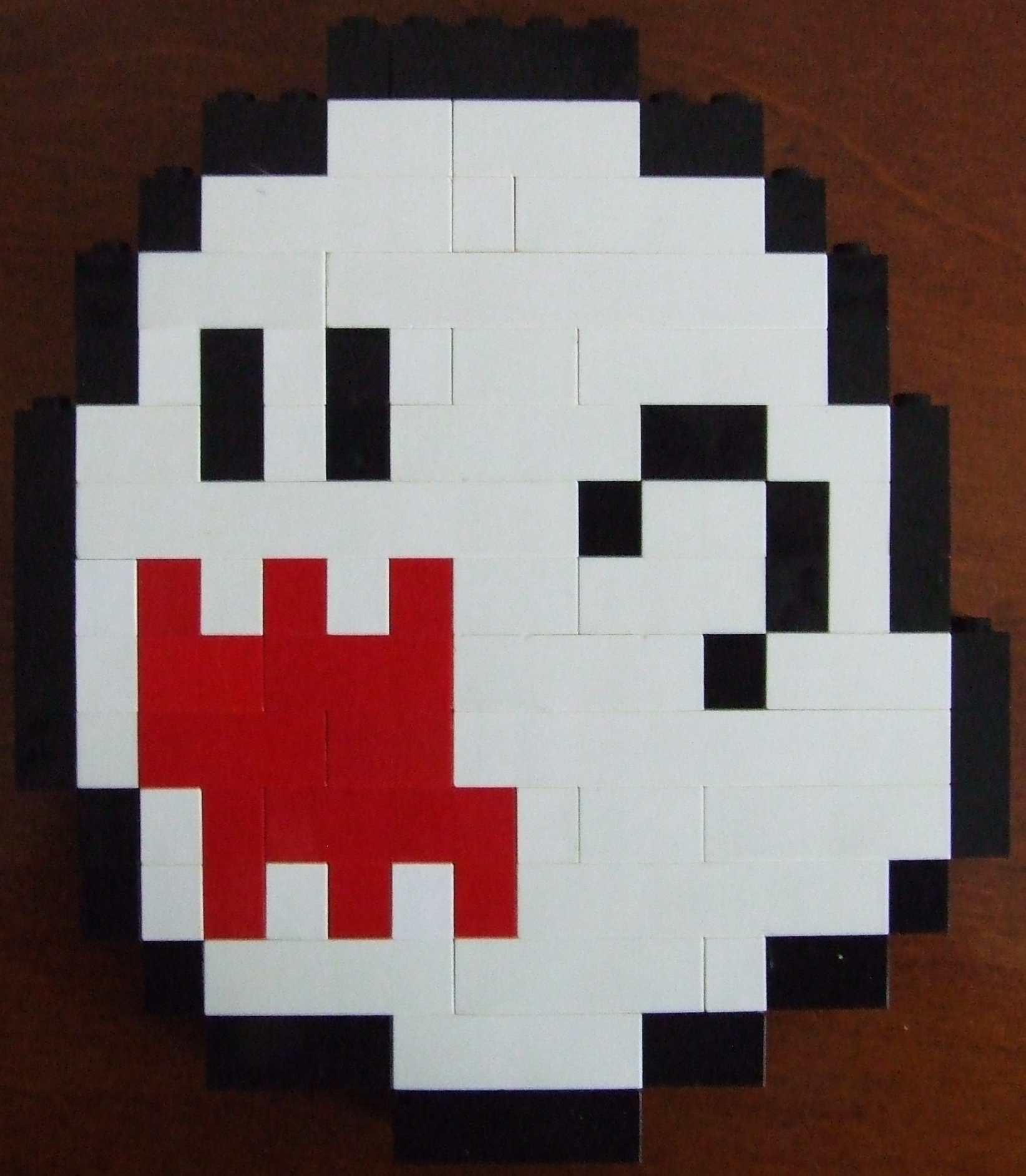 Boo Super Mario World Lego Pixel Art By