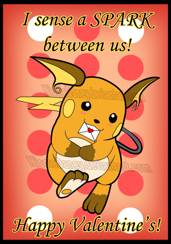 Raichu Valentine's Card by NicoleDaney