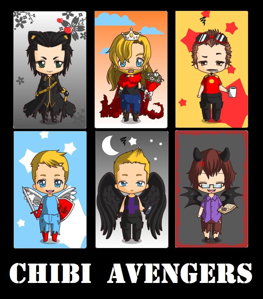 Chibi Avengers by MiChanKoshka on DeviantArt