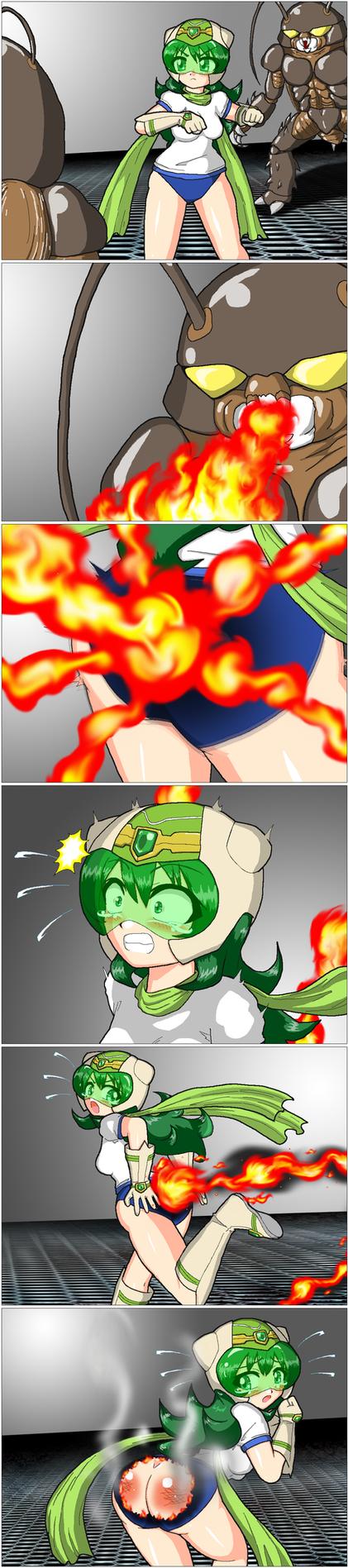 MusumeGreen vs Monstor by maiga858