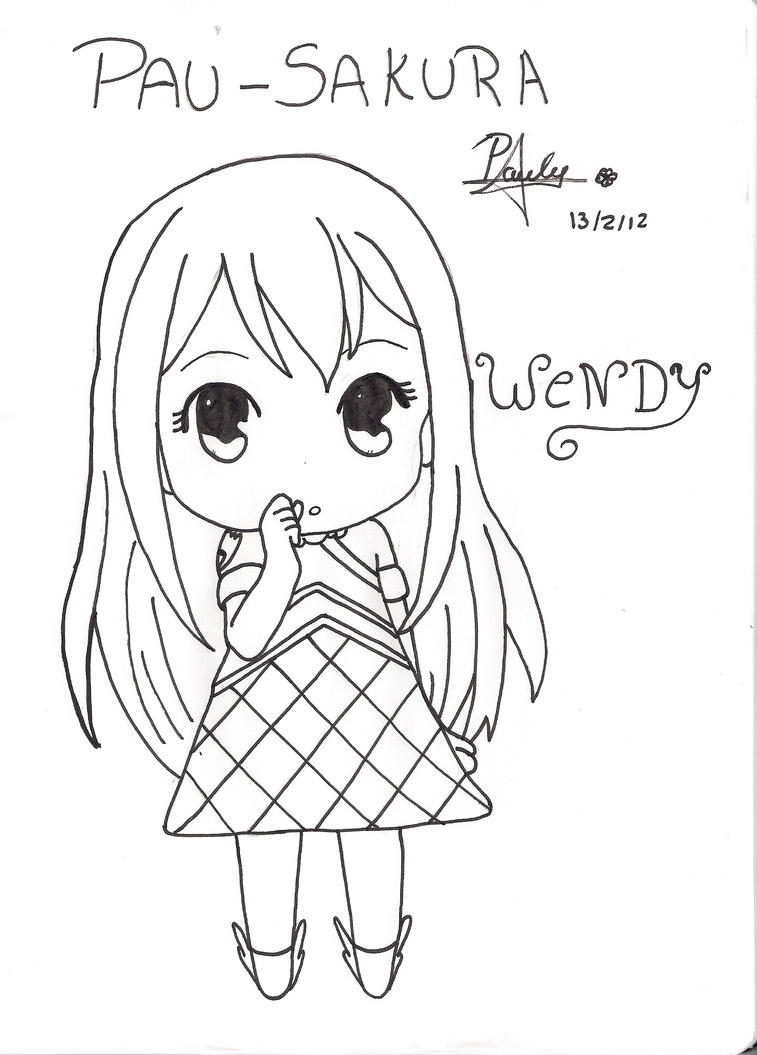 wendy chibi fairy tail by Pau-Sakura on DeviantArt
