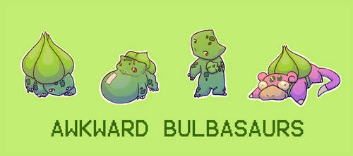 Awkward Bulbasaurs by emilycrossing