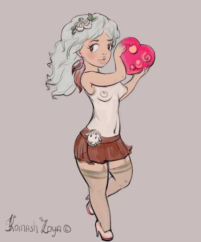Happy Valentine sketch by alfadesire