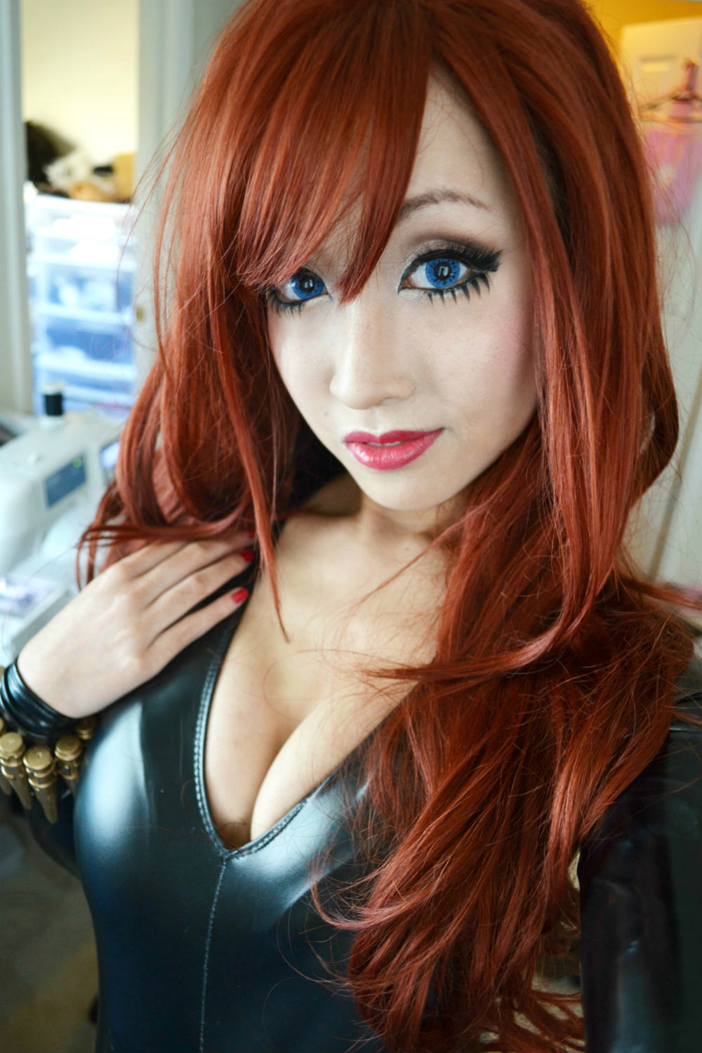 Black Widow Selfie by DollyLollipop