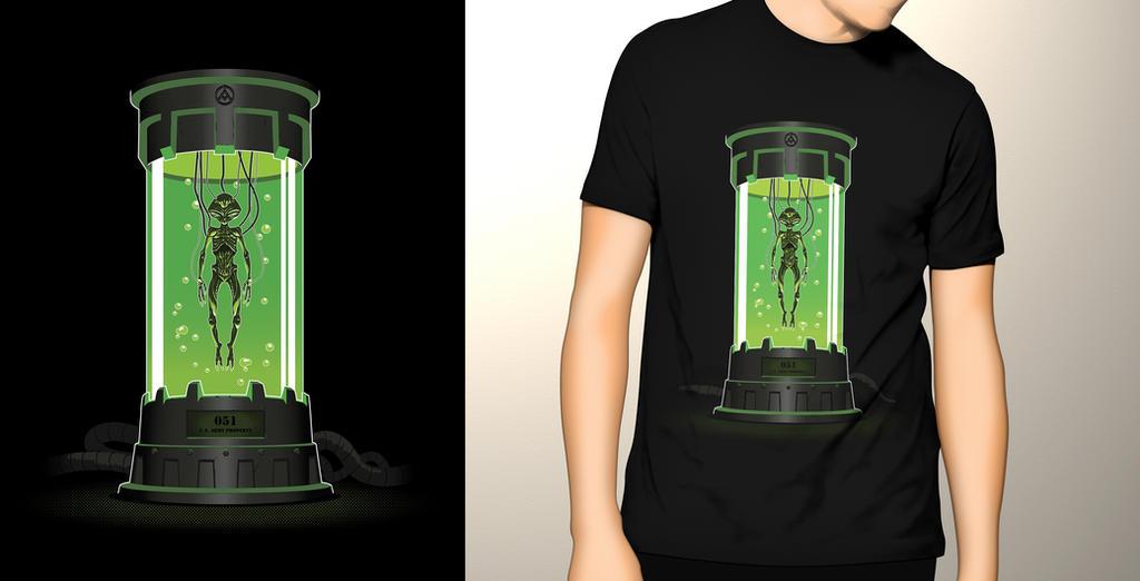 Assombrado Estampa Incubadora Alien by Gengliu
