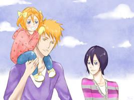 Kurosaki Family: A nice walk by hnraio