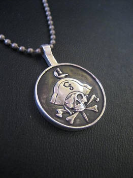 Silver Pirate pendant
