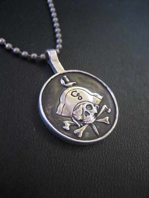 Silver Pirate pendant by flintlockprivateer