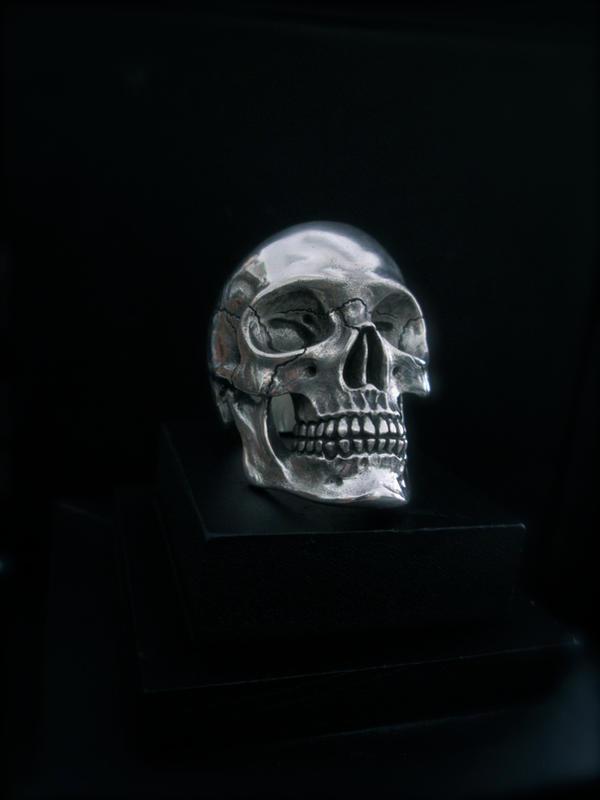 The Flintlock skull ring. by flintlockprivateer