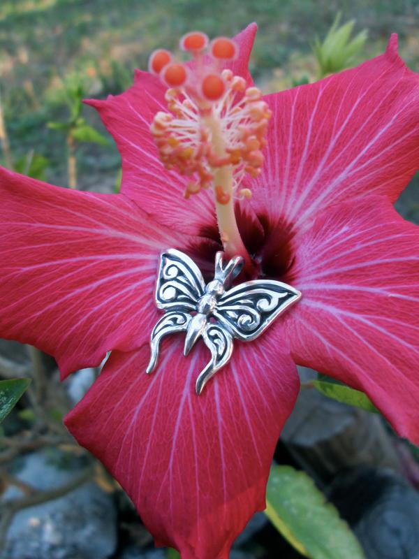 Butterfly pendant by flintlockprivateer