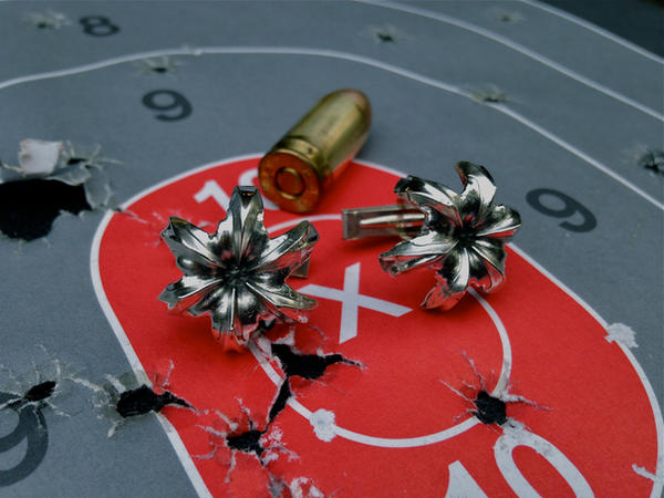 .45 caliber cufflinks. by flintlockprivateer