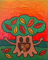 The Nut Gatherer by popartmonkey