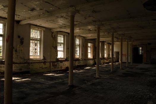 Abandoned hall of the asylum