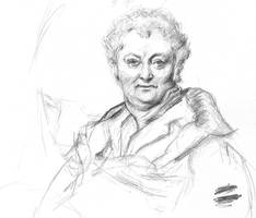 Drink and draw sketch - Ingres