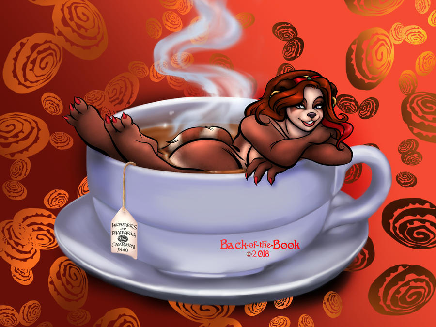 Commission: Temptress in a Teacup by Back-of-the-Book