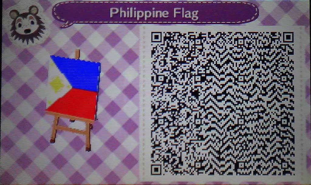Animal Crossing New Leaf Philippine Flag Qr Code By Xm4rkx On