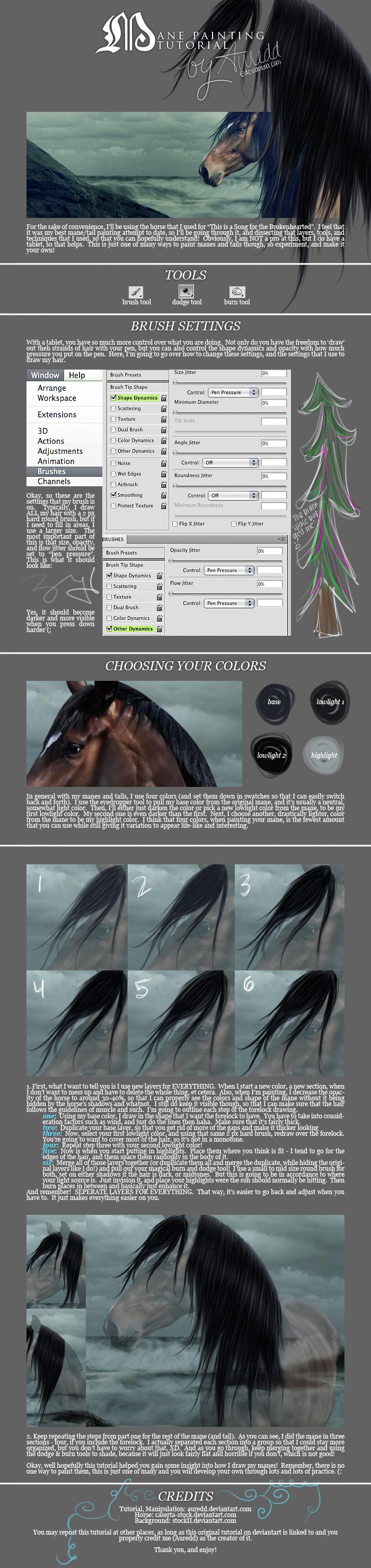 aur's mane painting tutorial