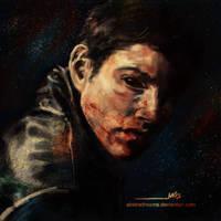 Demon!Dean Sketch by abstradreams