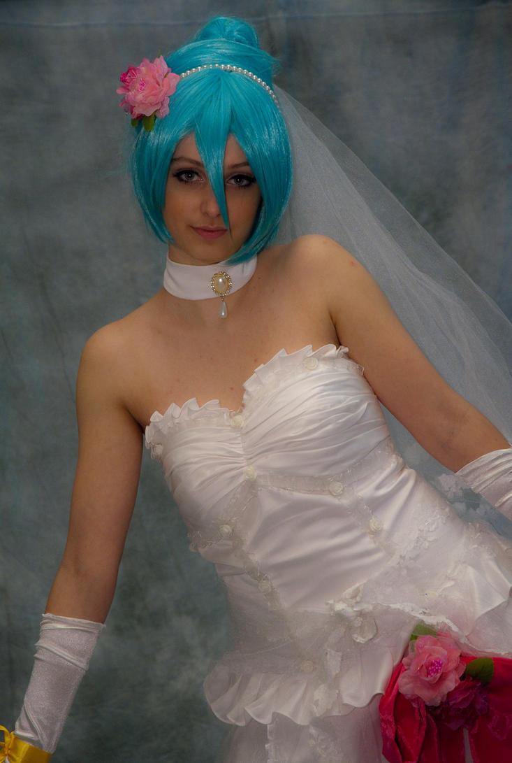 Hatsune Miku Wedding Dress 03 by IlunaNeko