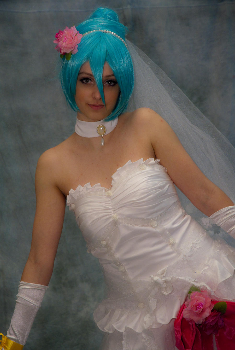 Hatsune Miku Wedding Dress 03 by IlunaNeko