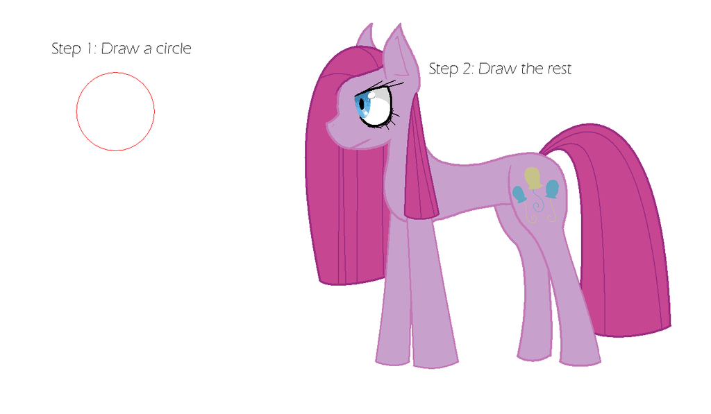 how to draw a pony buts