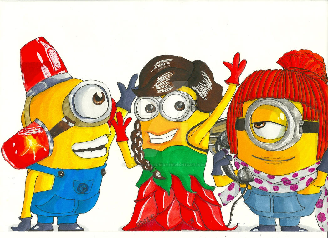 3 Minions by A-KTheLittleFairy