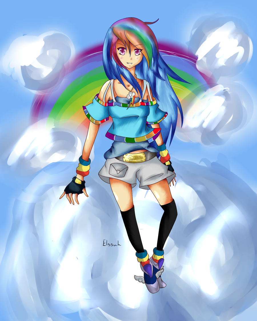Double Rainbow Dash by Elssuh