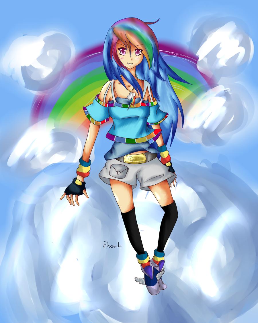 Double Rainbow Dash by Elssuh