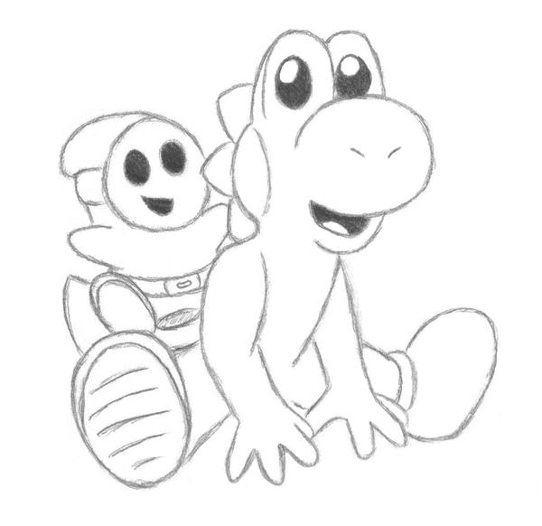Yoshi plus shyguy equals cute by kirby of fire on deviantart for Cute kirby coloring pages