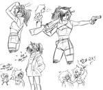 some doodles of Nina by Alegotic-twevel