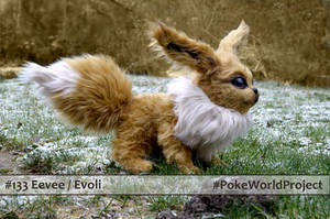 #133 Eevee - Realistic Doll - #pokeworldproject by pikamatronic