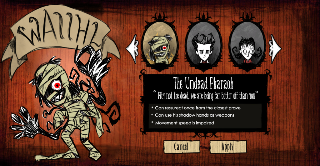 Don T Starve Character Meme By Ghostlymuse On Deviantart