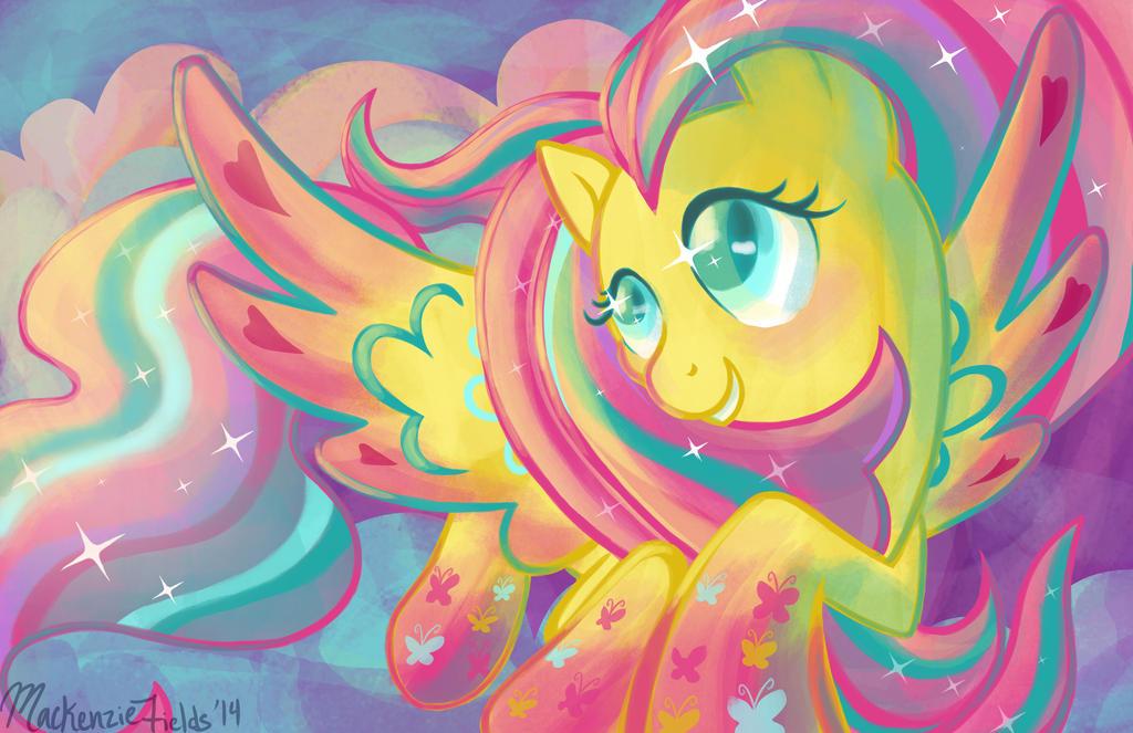 Fluttershy Rainbow Power by GhostlyMuse on DeviantArt