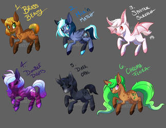 Mysterious Mutations Adopts! (2/6) [OPEN] by GhostlyMuse