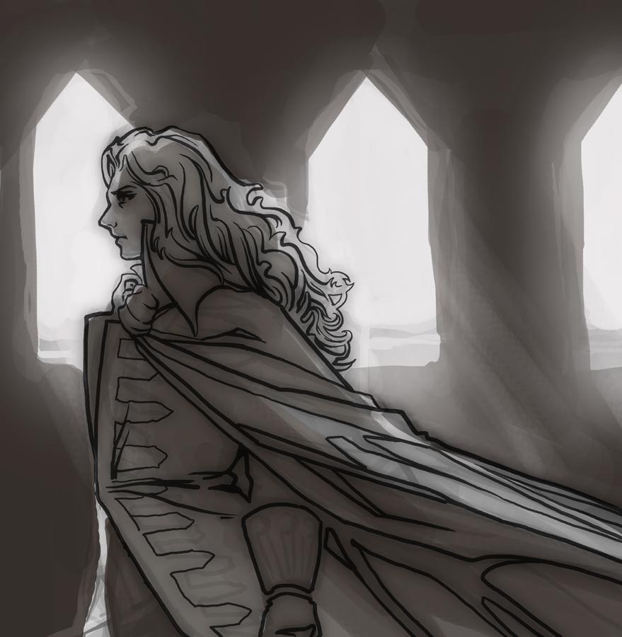 Alucard sketch by AlexandreaZenne
